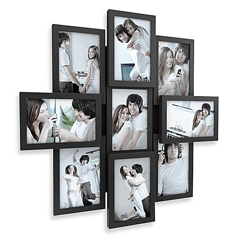 Twist and Peg 9-Opening Collage Frame in Black