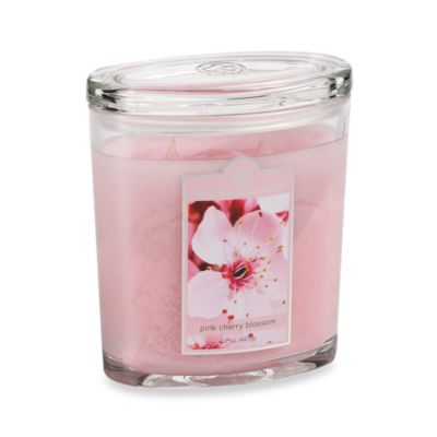 Colonial Candle® Pink Cherry Blossom 22-Ounce Scented Oval Jar Candle