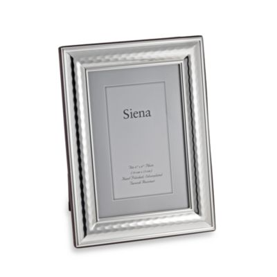 Siena Hammered Silver Plated 5-Inch x 7-Inch Frame