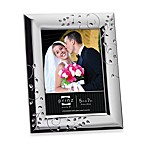 Whitley Silver Plated Metal 8-Inch x 10-Inch Frame with Crystals