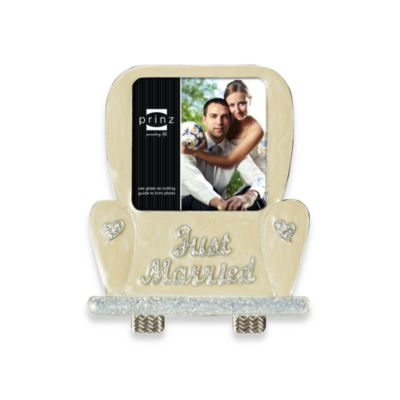 The Moment in Car 3 1/2-Inch x 3 1/2-Inch Ivory Metal Frame