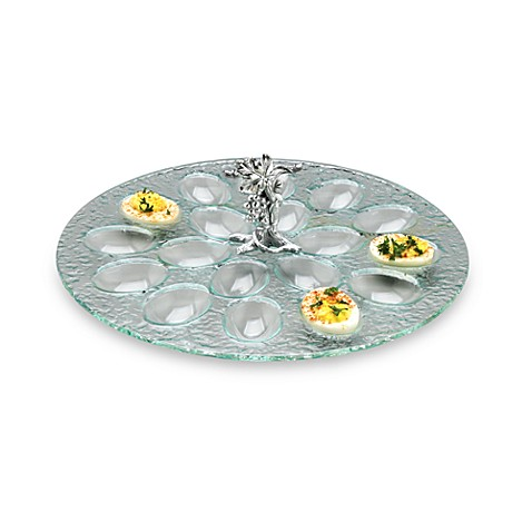 Arthur Court Designs Grape Glass 18-Deviled Egg Holder