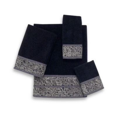 Avanti Crescent Hand Towel in Black