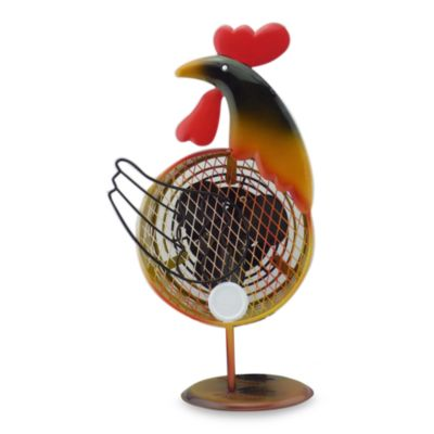 Himalayan Breeze Decorative Rooster Fan in Large