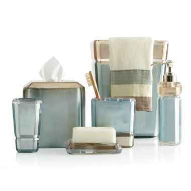 Croscill® Barron Boutique Tissue Holder in Light Blue