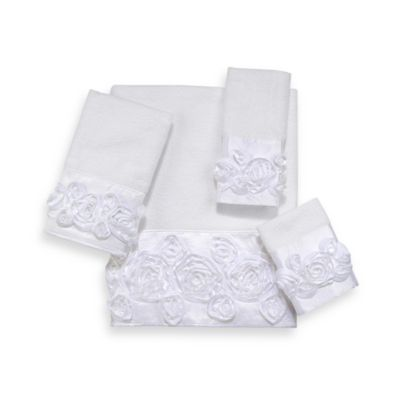 Avanti Rosie Hand Towel in White