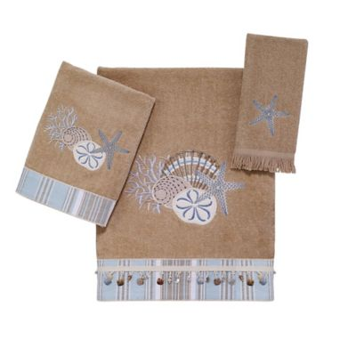 Avanti By The Sea Fingertip Towel in Rattan