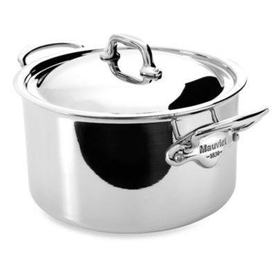 Mauviel M'cook 2.7-Quart Stewpan with Lid