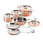 Mauviel M'150s Copper and Stainless Steel 10-Piece Cookware Set and Open Stock