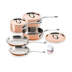 Mauviel M150s Copper and Stainless Steel 8-Piece Cookware Set
