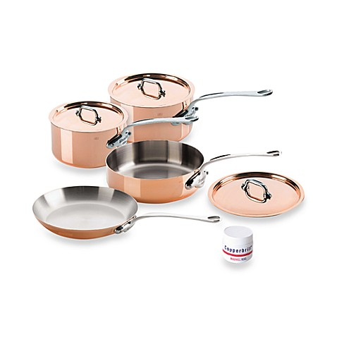 Mauviel M'150s Copper and Stainless Steel 7-Piece Cookware Set