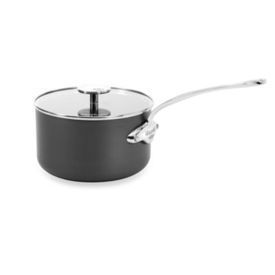 Mauviel M'Stone2 Aluminum 3.6-Quart Saucepan with Glass Lid