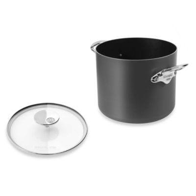Mauviel M'stone2 Aluminum 9.6-Quart Stock Pot with Glass Lid