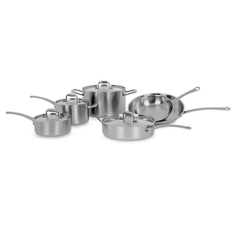 American Kitchen Tri Ply 10 Piece Cookware Set Bed Bath Beyond