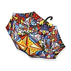 Britto™ by Giftcraft Garden Design Umbrella with Wooden Handle