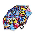 Britto™ by Giftcraft Deeply in Love Umbrella with Wooden Handle