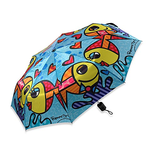 Britto™ by Giftcraft Fish Collapsible Travel Umbrella