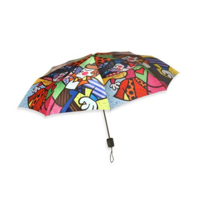 Britto™ by Giftcraft Swing Design Collapsible Travel Umbrella
