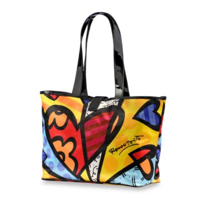 Britto™ by Giftcraft Snap Closure Heart Tote