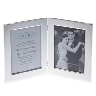 Eccolo™ Double Silver Plated 5-Inch x 7-Inch Frame