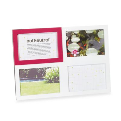 notNeutral® Highlight 4-Opening Collage Frame in Fuchsia