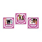 Butch & Harold Sticker Pockets in Rose (Set of 3)