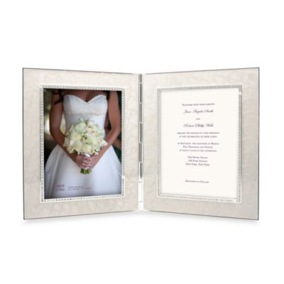 Enamel and Crystal 2-Opening Invitation Frame