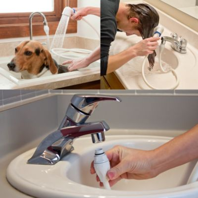 Rinse Ace Sink Faucet Rinser with Detachable 3 Hose