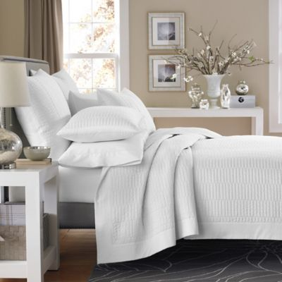 Real Simple® Dune Coverlet in White