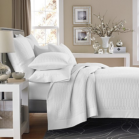 Real Simple® Dune King Reversible Coverlet in White