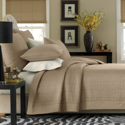 Real Simple® Dune King Reversible Coverlet in Taupe