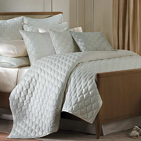 Barbara Barry® Glamour King Sham in Blue Pearl