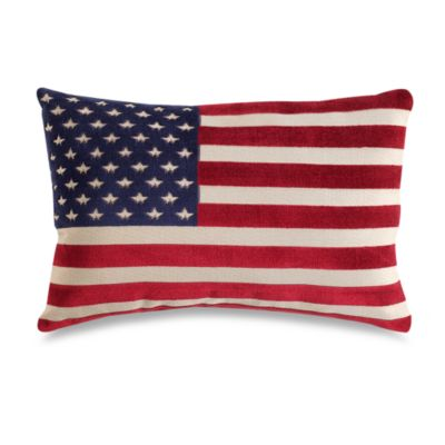 American Flag 20-Inch Decorative Toss Pillow