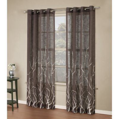 Alton Print 84-Inch Grommet Top Panel in Chocolate