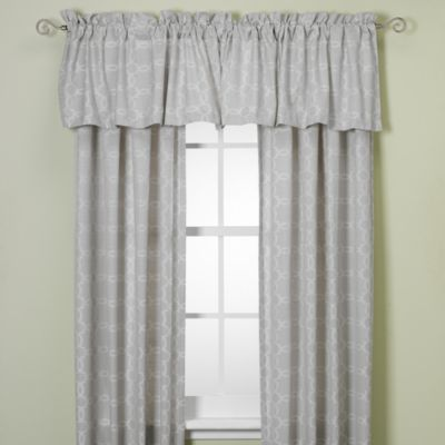 Westport Geo Rod Pocket/Back Tab 84-Inch Window Curtain Panel in Natural