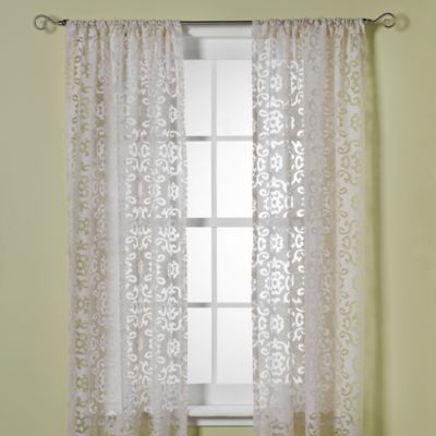 B. Smith Jafaro Burnout 108-Inch Window Curtain Panel