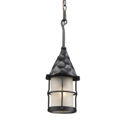 Landmark Lighting Rustica Outdoor Pendant Lighting in Matte Black