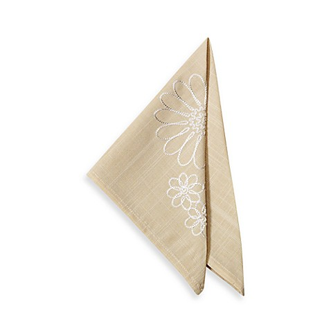Spring Posey Napkin in Natural