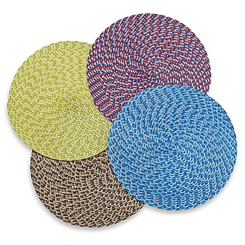 Indoor/Outdoor 15-Inch Round Woven Placemat