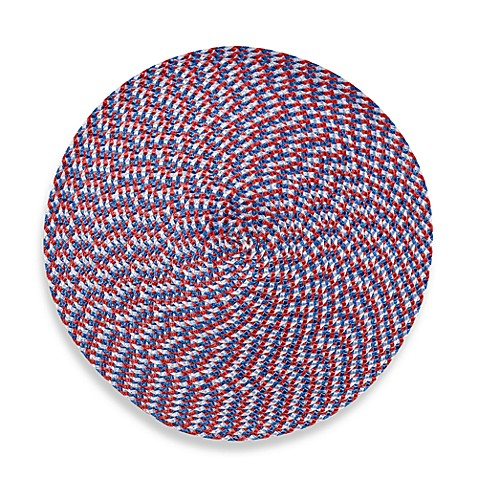 Indoor/Outdoor 15-Inch Round Placemat in Red/White/Blue