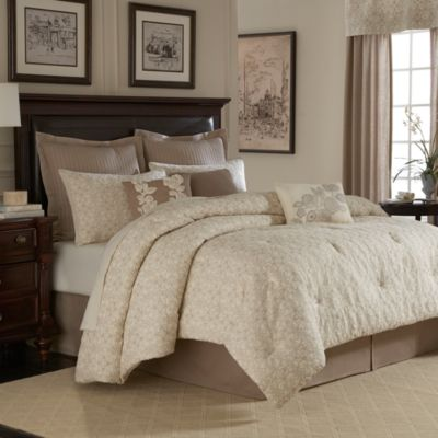 Royal Heritage Home® Sonoma King Comforter Set in Ivory