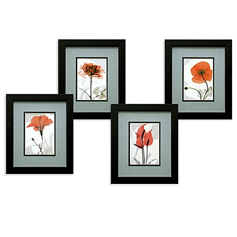 X Ray Red Floral Wall Art Bed Bath Beyond