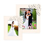 White Photo Frame With Floral Accent