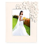 White 5-Inch x 7-Inch Photo Frame With Floral Accent