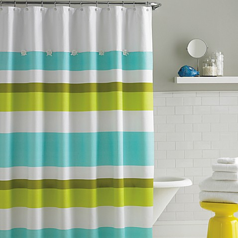 kate spade new york Land and Sea 72-Inch x 72-Inch Fabric Shower Curtain