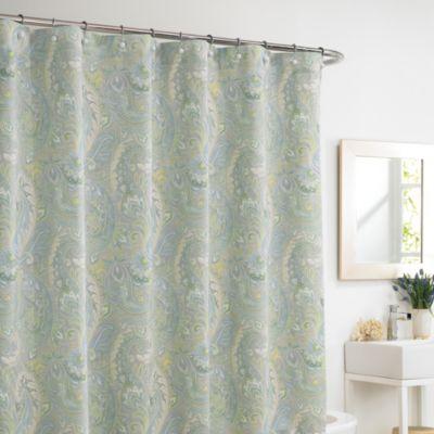 Rhapsody Mist 72-Inch x 72-Inch Shower Curtain