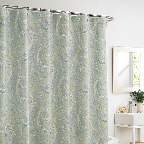 Rhapsody Mist 72-Inch x 72-Inch Shower Curtain