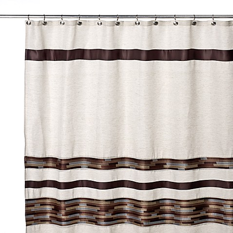 Dresden 70-Inch W x 72-Inch L Fabric Shower Curtain