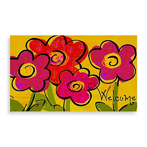 Bright Floral Door Mat