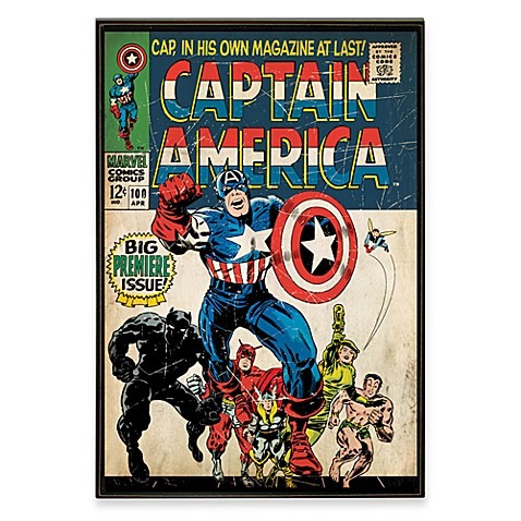 Captain america marvel comic book wall d cor plaque bed Captain america wall decor